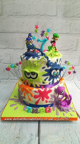 Splatoon cake by Helen the cake lady - a photo on Flickriver