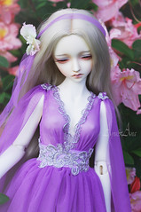 Azalea Fairy (AyuAna) Tags: bjd ball jointed doll dollfie ayuana design minidesign handmade ooak clothing clothes dress set outfit fashion couture sewing sewingfordolls fantasy romantic style sd sd13 sd10 size littlemonica little monica chloe whiteskin