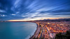 Nice - Long Exposure at Sunset (2) (Alex Lud) Tags: sunset dramaticsky moodysky horizon idyllic dawn twilight scenics alexlud longexposure clouds urban france nice frenchriviera mediterranean city street nightlights bluehour panorama nisi nd filter 06