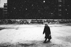 snow white (matthias hämmerly) Tags: switzerland candid street streetphotography shadow contrast grain ricoh gr black white bw monochrom monochrome city town urban blackandwhite strasse people monochromphotography dark zürich zuerich rain lonely cold winter swiss einfarbig linien gebäude snow silhouette woman helvetiaplatz peoppe everybodystreet