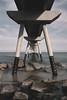 Pont del Petroli. (Jon Ortega Photography) Tags: puente bridge mar sea playa beach symmetry strong estable rocks rocas cielo sky calm calma tranquilidad columnas columns calmness barcelona badalona catalunya pontdelpetroli