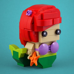 BrickHeadz: The Little Mermaid (Swan Dutchman) Tags: lego brickheadz disney thelittlemermaid mermaid kleinezeemeermin zeemeermin ariel