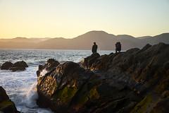 DSC03186 (manolosavi) Tags: california sanfrancisco bakerbeach outside nature sea beach sand sony alpha a7 a7ii sky sunset people rocks zeiss sonnar 55mm