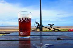 doom! (SociétéRoyale) Tags: new brighton merseyside wirral cycle bike bicycle way liverpool uk pint beer pub