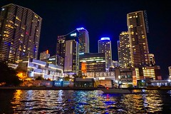 Brickell City Centre from The Miami River (miamism) Tags: brickellcitycentre bccmiami brickellcondos brickellluxurycondos brickellrealtors miamiatnight miamiriver
