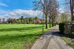 Spring Scene (scottprice16) Tags: england lancashire ribblevalley clitheroe clitheroecastle castlefield castlepark spring april morning sunshine colour 2018 grass trees blossom castle medieval norman delacey history sonyrx100m3 view landscape outdoors walking activity