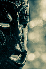 Heart of Darkness (Captainchaoz) Tags: vintage xfujinon 55mm f22 african mask bokeh monochrome