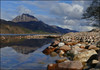 Loch Maree and Slioch (McRusty) Tags: loch maree slioch isle reflection mountain munro pebbles blue sky clouds beautiful outdoor highland scotland landscape