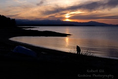 Capturing the Sunset (Roshine Photography) Tags: hornbyislandlodgeretreat grassypoint sunset vancouverisland environmental hornbyisland countries canada cvps places britishcolumbia ca mountain beach dusk sky landscape sea ocean