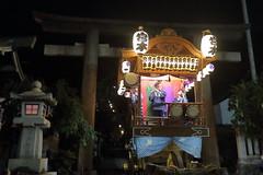 Matsuri(Japanese Local Festival) (seiji2012) Tags: 青梅市 住吉神社 青梅例大祭 鳥居 石灯籠 提灯 山車 お囃子 ome shrine toriigate