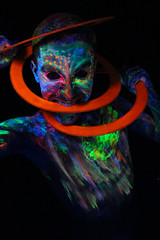 Stay Glowden - Dia 5 (Seh_Liquido) Tags: glow dark glowden blacklight luz negra neon body bodypaint makeup photoshoot