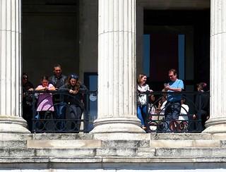 Outside the National Gallery, Trafalgar Square