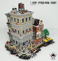 I Saw Spider-Man Today By Barthezz Brick 4 (Barthezz Brick) Tags: lego afol spiderman custom moc comic marvel nyc fantasy brick barthezzbrick legocreator brickbuild car taxi motor barthezz