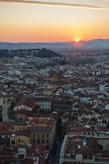 Florence sunset (Joe Dunckley) Tags: firenze florence italian italy renaissancearchitecture toscana tuscan tuscany aerialview architecture birdseyeview building city cityscape dusk evening fromabove hill hills house houses landscape nature rooftops sunset