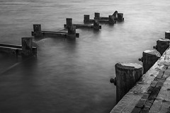 Sea Bridges (Thomas Pohlig) Tags: pilings pier piling jersey jerseyshore jetty newjersey seashore sea series seascape beach ocean longexposure blackandwhite blackandwhitephotography monochrome mono
