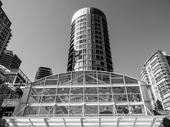 Building in Vancouver, Canada (Lee Edwin Coursey) Tags: 2018 building city sony vacation britishcolumbia vancouver urban blackandwhite monochrome vancouverisland tower bw travel architecture canada sonyrx10m3 sonyrx10 april