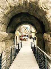 Aosta / Italy (chudnovska.karina) Tags: italy arch market oldtown aosta castle wall bricks