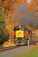 Howe Meadow Smokin' (craigsanders429) Tags: cuyahogavalleyscenicrailroad cuyahogavalleynationalpark howemeadow smoke cvsrtrains cvsrlocomotives cvsrmotivepower autumn autumnphotography autumncolors autumnfoliage autumncolor trainsandautumn fallfoliage fall fallcolors fallfoliagephotography fallphotography cvsr4241