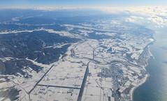 日高自動車道-鵡川 002 (A.S. Kevin N.V.M.M. Chung) Tags: japan overview inflight hokkaido 北海道 nature snow yuki highway