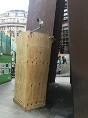Serra CCTV (Phil Gyford) Tags: liverpoolstreetstation london uk cityoflondon sculpture richardserra fulcrum liverpoolstreet art cctv broadgate