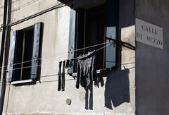 Windows (MelindaChan ^..^) Tags: italy 意大利 murano window paatter light shade shadow clothes dry sundried chanmelmel mel melinda melindachan life island village house