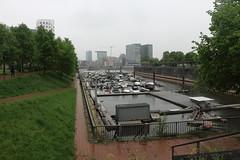 23-Yachthafen, rechts die Hafenspitze mit den Zwillingstürmen (julia_HalleFotoFan) Tags: düsseldorf nordrheinwestfalen nrw rhein rheinland rheinuferpromenade altstadt yachthafen medienhafen hafenspitze