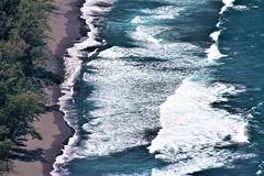 Black sand beach (thomasgorman1) Tags: tide nature scenic lookout sand shore island rocks forest trees waves nikon blacksand