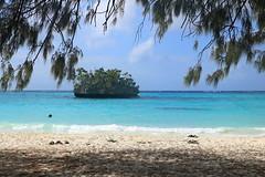 Flip-flops on the beach (dahit86) Tags: sea mer plage beach newcaledonia nouvellecalédonie sable sand holidays vacances flipflops bleu blue île island paradise paradis lifou