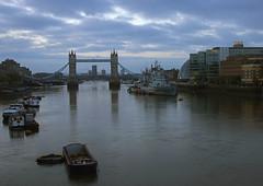 Tower Bridge (Sean O'Reilly*) Tags: towerbridge barge hmsbelfast cityhall boat thames river water sky calm tranquil london england gb londres uk