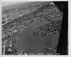 1950 Flood - Aerial of Fort Rouge (vintage.winnipeg) Tags: winnipeg manitoba canada vintage history historic 1950flood
