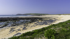 Constantine Bay, Cornwall (David Lea Kenney) Tags: beach beaches beachscape seascape sun coast coastline explore travel cornwall england uk sea sand sky ocean water cliff landscape bay constantinebay rock grass