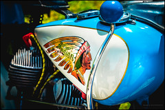 Indian tank badge (G. Postlethwaite esq.) Tags: american dof derbyshire heage indian sonya7mkii badge beyondbokeh bokeh classicbikes depthoffield fullframe handchange handjob knob mirrorless motorbikes petroltank photoborder selectivefocus windmill