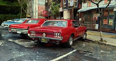 Summer 69 2 (gpholtz) Tags: diorama miniatures 118 diecast 1967 mustang ford