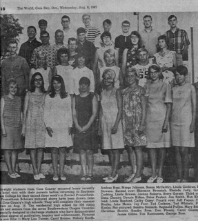 Another grouping of Project Prometheus Scholars 1967