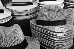 If you want to get ahead...get a hat (All I want for Christmas is a Leica) Tags: monochrome hats display shopdisplay market fedora panama panamahat hatband