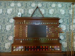 Wightwick Manor - Billiard Room - scoreboard (ell brown) Tags: wolverhampton blackcountry westmidlands england unitedkingdom greatbritain tettenhall wightwick tettenhallwightwick nationaltrust thenationaltrust wightwickmanorgardens bridgnorthrd wightwickbank mander manderfamily theodoremander wightwickmanor gradeilistedbuilding gradeilisted edwardould williammorris cekempe tree trees brickwithashlardressingsandtimberframingtileroofswithbrickstacks vernacularrevivalstyle oldmanor oldmanorhouse billiardroom snooker snookertable scoreboard