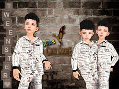 Mickey News Tweenster Unisex Pajamas(BOYS) (stephentryce) Tags: pajama pajamas pj pjs sleepwear sl secondlife virtual fantasy avatar fashion kids children boy girl casual bedtime