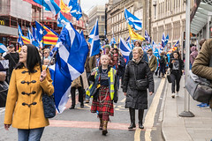 Pretty in Punk, All Under One Banner, Glasgow (05/05/18) (johnawatson) Tags: scoyland independence glasgow politics march demonstration protest canon80d ef2470mmf4lisusm scotland environmentalportrait portrait activist protester joy people
