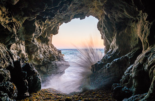 Malibu California Ocean & Beach Sea Cave Sunset! Epic Malibu Long Exposure Fine Art Landscape Seascape HDR Photography! Elliot McGucken Fine Art Photography! Sony A7R II & Carl Zeiss Sony Vario-Tessar T* FE 16-35mm f/4 ZA OSS Lens SEL1635Z