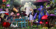 Welcome back Alice (meriluu17) Tags: enchantment wonderland aliceinwonderland tale fairytale fae fantasy surreal story forest magic magical colors shrooms mushrooms pet animal wild incredible people princess doll cheesiree
