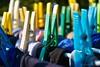 Panni al sole (divedade) Tags: clothespins mollette clothes vestiti panni blue white green red yellow blu bianco verde rosso giallo colors color colori colore