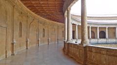 DSCF5598c Palacio de Carlos V, Alhambra, Granada (Thomas The Baguette) Tags: granada spain granadaspain espagne espana alhambra nesrid nesridpalace patiodelosleones lionfountain comares moorish fountains architecture gardens machuca alcazaba