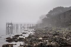 Yarmouth Fog (Speedy349) Tags: isleofwight yarmouth pier jetty fog tide wall