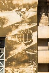 Love letters in hand (PDKImages) Tags: bristol bristolstreetart street art urban banksy ukstreetart cityscene scene love fist