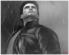Peter - 3 (Tammy-Jones (accepting clients and critique)) Tags: sl secondlife sexy stud blackwhite bw rain noir
