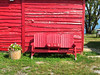 Bench, Manitoulin Island, Ontario, Canada (duaneschermerhorn) Tags: bench shed old abandoned decay grass green red shack seats emptyseats tree