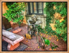 Training wheels.... (Sherrianne100) Tags: childhood trainingwheels bicycle whimsical art sedona arizona sculpture