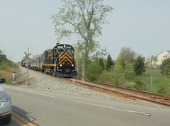 DSC06384R (mistersnoozer) Tags: lal shortline railroad rr rgvrrm excrusion train alco locomotive c425