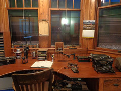 Operators desk (M.R.Kirk) Tags: depot station train railroad sooline waupacahistoricalsociety historic history night waupaca desk office
