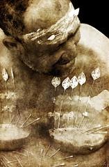 Le coeur cousu... (Sabine-Barras) Tags: cavadee kavadi religion tradition procession tamil tamoule rituel ritual reportage monochrome people personnes portrait réunion sépia sepia